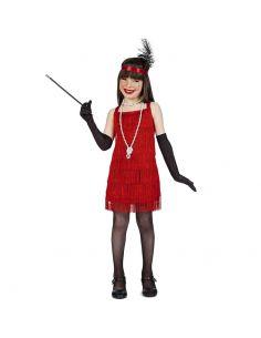 Disfraz de Charlestón de Flecos Rojo Infantil Tienda de disfraces online - venta disfraces