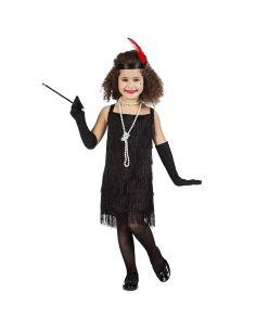 Disfraz de Charlestón de Flecos Negro Infantil Tienda de disfraces online - venta disfraces