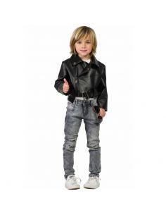 Cazadora Negra de Travolta Infantil Tienda de disfraces online - venta disfraces