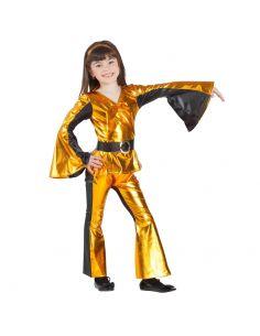 Disfraz de Disco en Dorado Infantil Tienda de disfraces online - venta disfraces