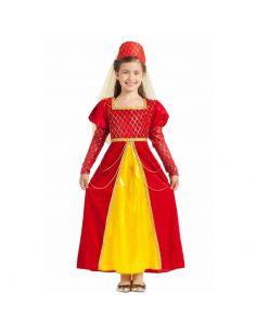 Disfraz de Princesa Medieval Rojo Infantil Tienda de disfraces online - venta disfraces