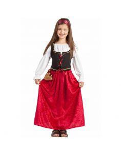 Disfraz Medieval de Terciopelo para Niña Tienda de disfraces online - venta disfraces