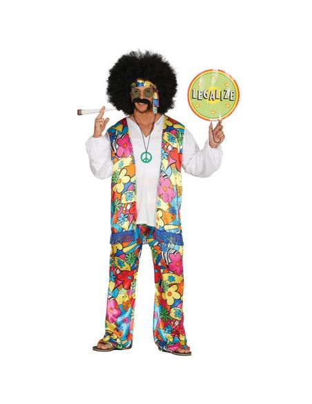 Disfraz de Hippie Arcoíris para Adulto Tienda de disfraces online - venta disfraces