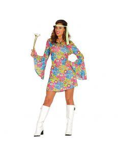 Disfraz Hippie Flower Power para Mujer Tienda de disfraces online - venta disfraces