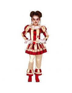 Disfraz de Payasa a Rayas infantil Tienda de disfraces online - venta disfraces