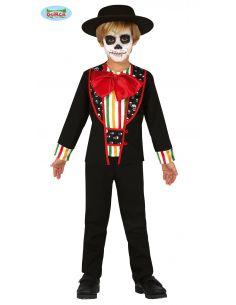 Disfraz de Mejicano Día de los Muertos para niño Tienda de disfraces online - venta disfraces