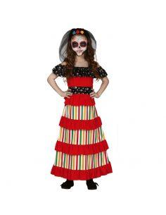 Disfraz de Mejicana Día de los Muertos para niña Tienda de disfraces online - venta disfraces
