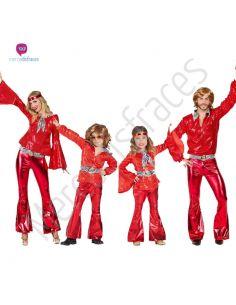 Disfraz para grupos Años 70 Rojo Tienda de disfraces online - venta disfraces