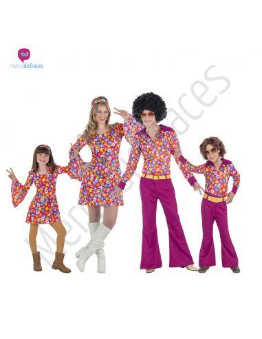 Disfraces para grupos de Hippies rosas Tienda de disfraces online - venta disfraces