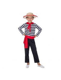 Disfraz de Gondolero Veneciano para Niño Tienda de disfraces online - venta disfraces