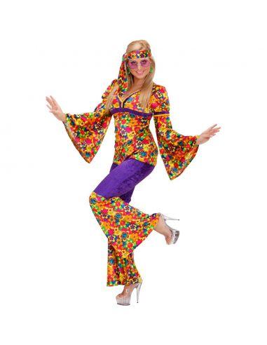 Disfraz Chica Hippie con pantalon Talla XL Tienda de disfraces online - venta disfraces
