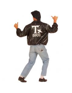 Cazadora Negra T Birds Talla XL Tienda de disfraces online - venta disfraces