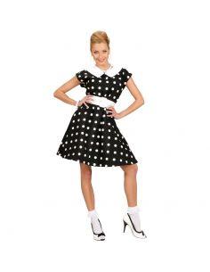 Disfraz Vestido negro con topo blanco Tienda de disfraces online - venta disfraces