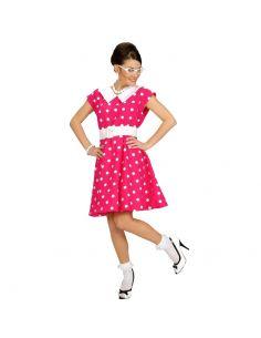 Disfraz Vestido rosa con topo blanco Tienda de disfraces online - venta disfraces
