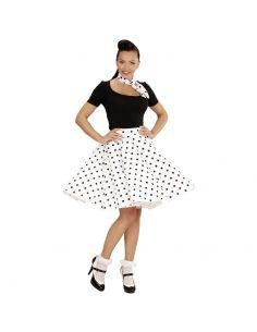 Falda de Lunares en Blanco años 50 Tienda de disfraces online - venta disfraces