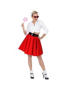 Falda Rock & Roll Roja Tienda de disfraces online - venta disfraces