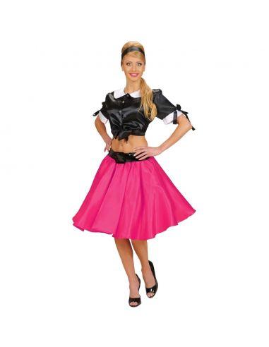 Falda de los Años 60 en fucsia Tienda de disfraces online - venta disfraces