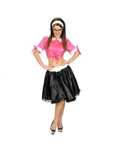 Camisa Rosa Corta Años 50 en Satén Talla XL Tienda de disfraces online - venta disfraces