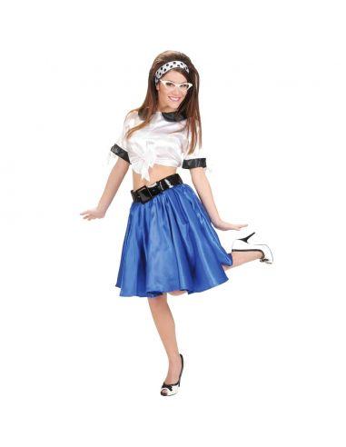 Falda de los Años 60 en Azul Tienda de disfraces online - venta disfraces