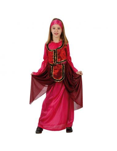 Disfraz Dama Medieval Rosa Infantil Tienda de disfraces online - venta disfraces