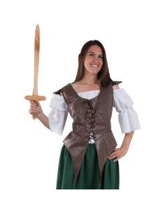 Chaleco Medieval de Guerrera Tienda de disfraces online - venta disfraces