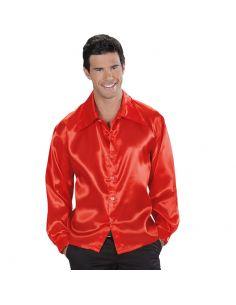 Camisa Años 70 Rojo en raso para adulto Tienda de disfraces online - venta disfraces