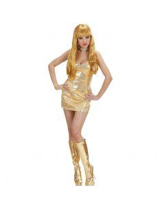 Vestido Lentejuelas Dorado para mujer sexy Tienda de disfraces online - venta disfraces