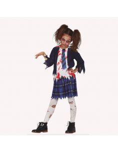 Disfraz Estudiante Zombie Niña Tienda de disfraces online - venta disfraces