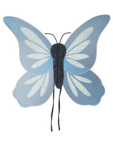 Alas Mariposa Fantasía Azul 70x63 cm. Tienda de disfraces online - venta disfraces