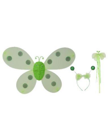 Set Alas Mariquita Verdes 61x40 cm. Tienda de disfraces online - venta disfraces