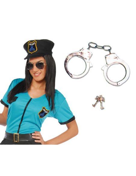 Esposas de Metal para Policía Tienda de disfraces online - venta disfraces