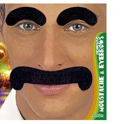 Cejas y Bigote Negro Groucho