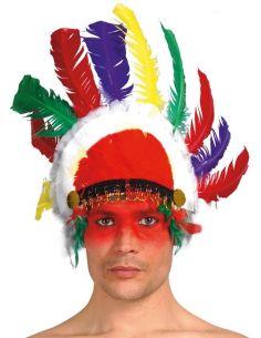 Penacho Indio con plumas