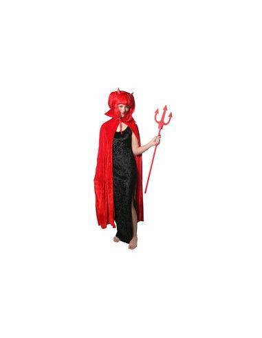 Capa en rojo para Diablesa o Diablo Tienda de disfraces online - venta disfraces