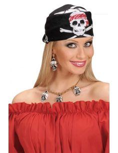 Bandana Pirata Negra con...