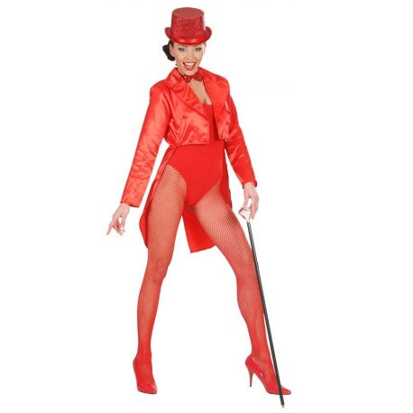 Frac en Raso Rojo para mujer Tienda de disfraces online - venta disfraces