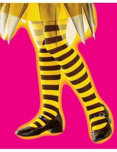 Panty a Rayas Amarillas y Negra infantil Tienda de disfraces online - venta disfraces