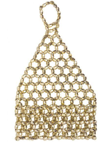 Mitán Elástico Corto con Pedrería en Oro Tienda de disfraces online - venta disfraces