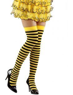 Medias a Ralla Negras y Amarillas Talla XL Tienda de disfraces online - venta disfraces