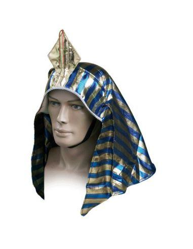 Corona Imperial de Faraón en Azul con Oro Tienda de disfraces online - venta disfraces