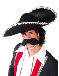 Sombrero Mejicano o Mariachi Negro Tienda de disfraces online - venta disfraces