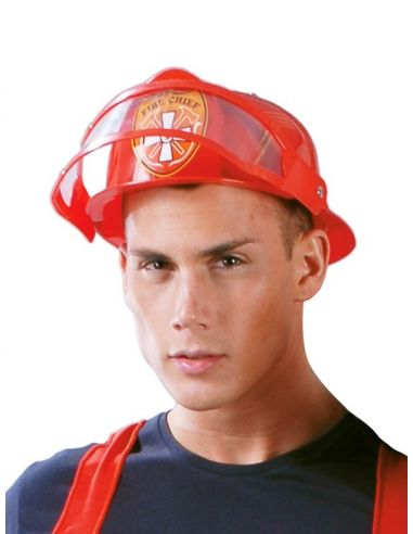 Sombrero Bombero Americano Plástico Tienda de disfraces online - venta disfraces