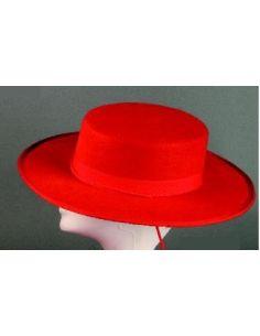 Sombrero Cordobés Rojo  Tienda de disfraces online - venta disfraces