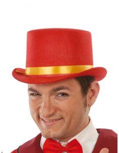 Chistera Fieltro Rojo Tienda de disfraces online - venta disfraces