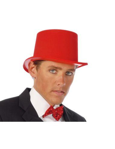 Chistera Flocada Rojo adulto Tienda de disfraces online - venta disfraces