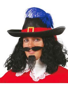 Sombrero Mosquetero Fieltro Negro adulto Tienda de disfraces online - venta disfraces