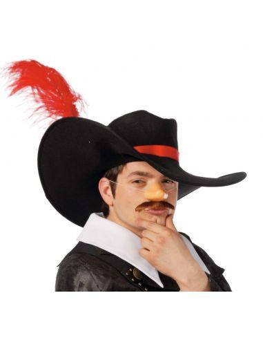 Sombrero Espadachín con Pluma Tienda de disfraces online - venta disfraces
