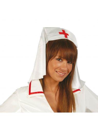 Tocado Enfermera Tela Tienda de disfraces online - venta disfraces