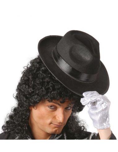 Sombrero Gangster Negro Cinta Negra Tienda de disfraces online - venta disfraces