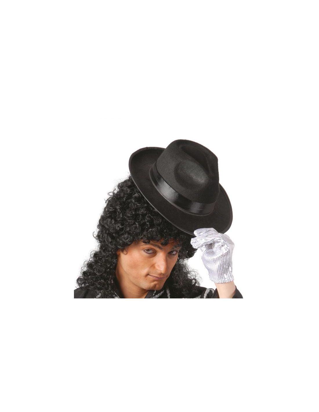 Sombrero Gangster Negro Cinta Negra  1b3fc0257ec